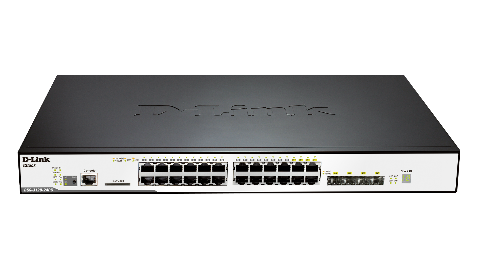 24 Port Layer 2 3 Stackable Gigabit Poe Switch Philippines 3g 4g Filter Modules Dgs312024pca1image Lfront